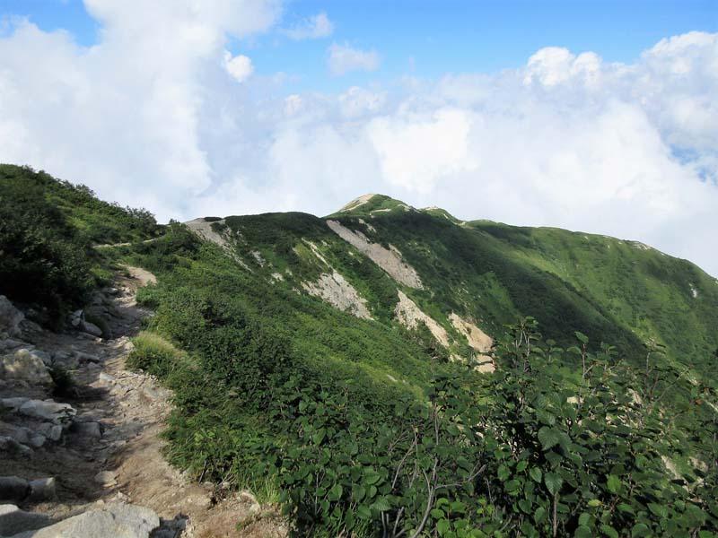 八方池から唐松岳2