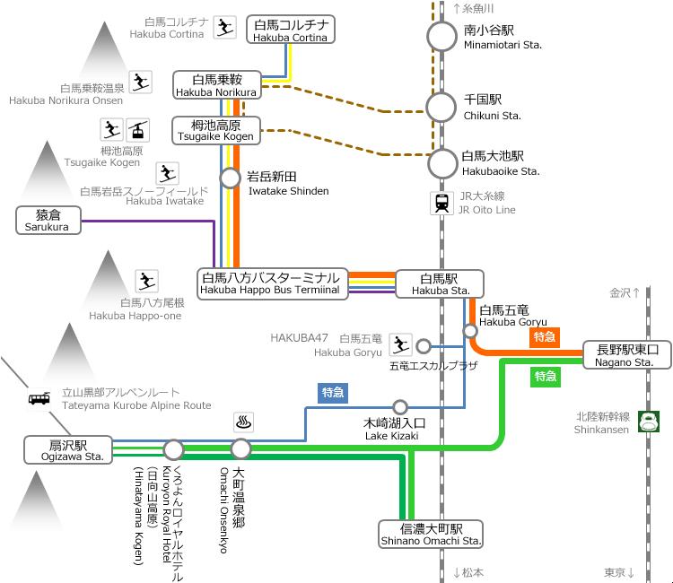 唐松岳へのアクセス