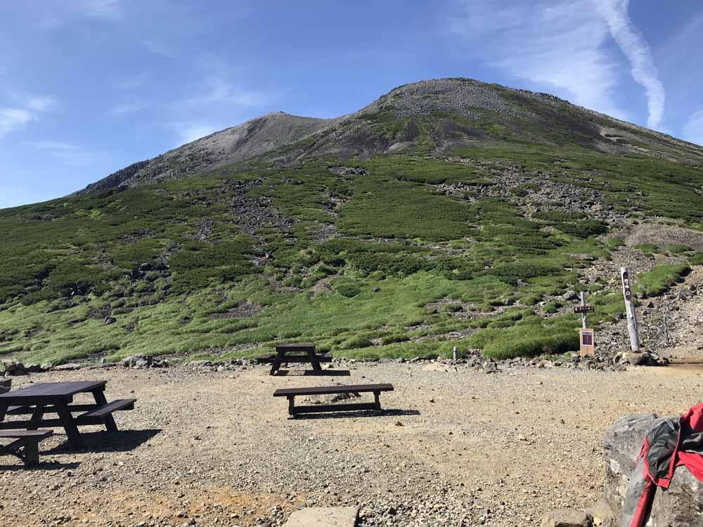 肩の小屋からの景色