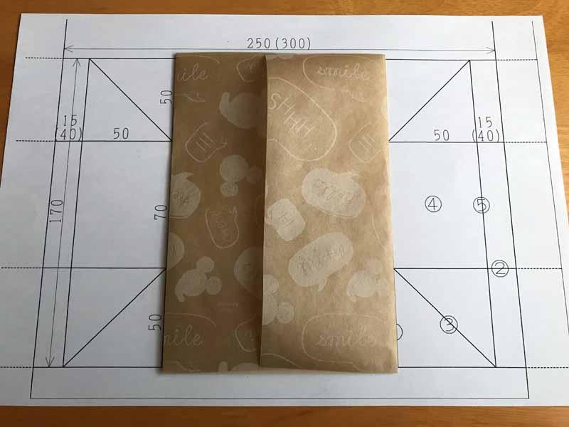 ダイソーメスティン折の折り方